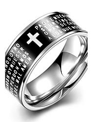 Anéis Casamento / Festa / Diário / Casual / Esportes Jóias Aço Inoxidável Masculino Anel 1pç,7 / 8 / 9 / 10Preto / Verde / Piscina /
