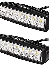 KAWELL® 18W LED Light Bar 90 Degree Flood Beam Light for ATV/Jeep/boat/suv/truck/car/atvs light Off Road Waterproof (Pack of 2)