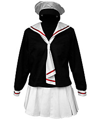 Inspired by Cardcaptor Sakura Cosplay Anime Cosplay Costumes Cosplay Suits Solid Cravat Skirt Dress T-shirt Hat For Kid's