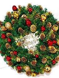 1 PC Creative Christmas Wreath Christmas Ornament Adornment Door Hang Hotel Pendant Hanging Christmas Tree Wreath Store