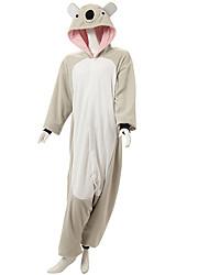 Kigurumi Pyjamas Koala Gymnastikanzug/Einteiler Fest/Feiertage Tiernachtwäsche Halloween Grau Patchwork Polar-Fleece Kigurumi Für Unisex