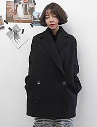 Stock stylenanda Korean fashion high-grade double-breasted wool coat