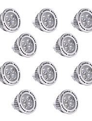 4W GU5.3(MR16) Lâmpadas de Foco de LED MR16 4 SMD 3030 350-400 lm Branco Quente / Branco Frio Decorativa DC 12 / AC 12 V 10 pçs