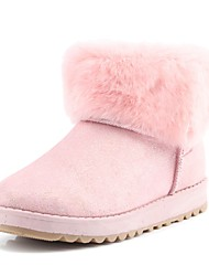 Women's Boots Winter Comfort Fur Casual Black Pink Beige