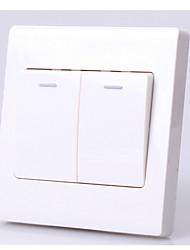 86 de dois painéis interruptor de dois abertos soquete de parede simples