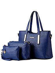M.Plus® Women's Casual Knit PU Leather Messenger Shoulder Bag/Tote