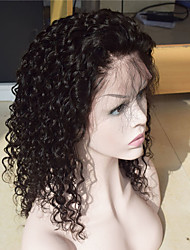 Virgin Brazilian Full Lace Human Hair Wig Natural Black Water Wave Human Hair Wigs With Baby Hair and Natural Hairline Wet Wave
