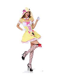 Fête / Célébration Déguisement Halloween Jaune A Carreaux Jupe / Pantalon / Gants / Chapeau Halloween / Noël / Carnaval Féminin