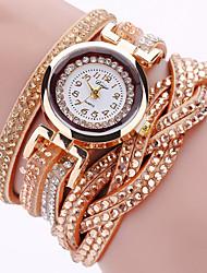 Mujer Reloj de Moda Reloj Pulsera Reloj de Pulsera Cuarzo La imitación de diamante Punk Colorido PU BandaCosecha Destello Torre Eiffel