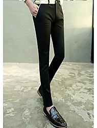 Hommes Droite Chino Pantalon,simple Sortie / Décontracté / Quotidien / Soirée / Cocktail Couleur Pleine Taille Normale fermeture Éclair