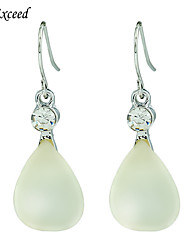 Romantic Light Yellow Teardrop-shaped Resin Stone Alloy Hook Drop Earring for Women ER154470