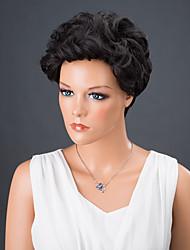 court bouclés perruque de cheveux synthétiques