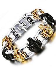 Women's Chain Bracelet Stainless Steel Steel Punk Skull / Skeleton Jewelry 1pc