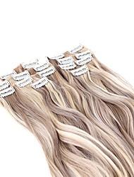 Clip In sintético Extensões de cabelo About 140g/set 22inch Alongamento