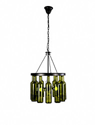 Chandelier ,  Country Painting Feature for Mini Style Metal Bedroom Dining Room Study Room/Office