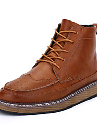 Для мужчин Ботинки Удобная обувь Армейские ботинки Полиуретан Зима Повседневные Для прогулок Удобная обувь Армейские ботинки ШнуровкаНа