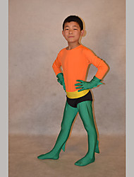 Festival/Holiday Costumes Green/Orange Solid Zentai Kid Lycra