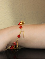 Women's Chain Bracelet Crystal Pearl Crystal Imitation Pearl Alloy Fashion Red Jewelry 1pc