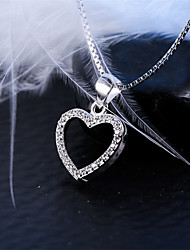 Women's Jewelry S925 Silver Zircon Charm Heart-shaped Pendant for Women