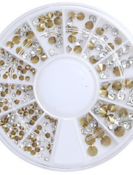 Mix Size 3D DIY Nail Art Tip Acrylic Sharp Bottom Drill Nail Rhinestones Beauty Nail Decoration Glitter