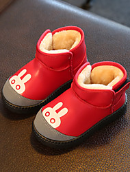 Girl's Boots Comfort Leatherette Casual Black / Brown / Red