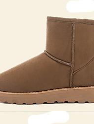 Women's Boots Fall Winter Comfort Fur Outdoor Casual Flat Heel Flower Black Brown Beige Walking