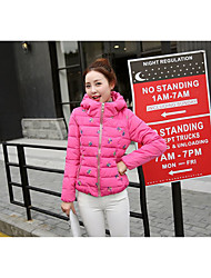 Sign 2016 winter new Korean Slim Down a short section of female fashion embroidered cotton padded