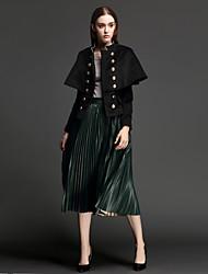 Damen Röcke,A-Linie einfarbigLässig/Alltäglich Einfach Hohe Hüfthöhe Knielänge Elastizität Others Micro-elastisch Winter / Herbst