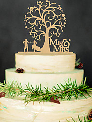 Wooden Mr & Mrs Cake Topper Non-personalized Acrylic Wedding / Anniversary / Bridal Shower  14*17cm