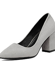 Women's Heels Fall Winter Comfort PU Casual Low Heel Black Pink Red Gray Other