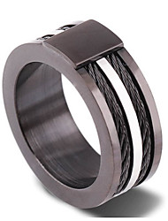 Ring Daily Jewelry Zircon Men Ring 1pc,5 / 6 / 7 / 8 / 9 / 10 / 11 / 12 Light Brown / Black / Silver