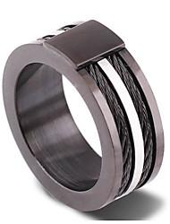 Ringe Alltag Schmuck Zirkon Herren Ring 1 Stück,5 / 6 / 7 / 8 / 9 / 10 / 11 / 12 Hellbraun / Schwarz / Silber