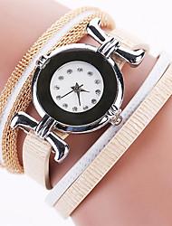 Women's Fashion Watch Wrist watch Bracelet Watch Colorful Imitation Diamond Rhinestone Quartz PU BandVintage Bohemian Charm Bangle Cool