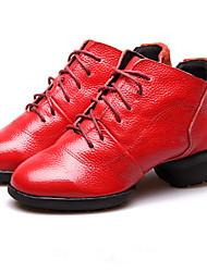 Sapatos de Dança(Preto / Vermelho) -Feminino-Não Personalizável-Latina / Jazz / Moderna