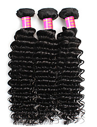 "Brazilian Virgin Hair Deep Wave 3 Bundles Brazilian Deep Wave Hair 100% Human Hair 8""-28"" Brazilian Virgin Hair"