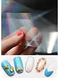1 pcs Manicure Transparent Sky Symphony Manicure Foil Paper 4cm*120cm