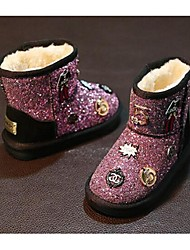 Girl's Boots Comfort Glitter Casual Black Pink Silver