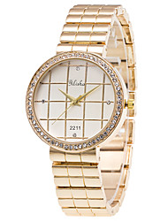 Women's Fashion Watch Wrist watch Quartz Alloy Band Luxury Gold