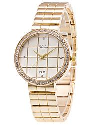 Damen Modeuhr Armbanduhr Quartz Legierung Band Luxuriös Gold Gold Weiß
