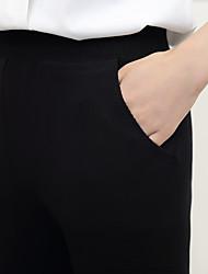 assinar 2016 Outono versão coreana do novo ocasional fêmea cultivar trecho selvagem cintura malha largas calças de pernas nove pontos