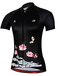Cycling Jersey Women's Short Sleeve Bike JerseyQuick Dry Anatomic Design Breathable Soft Sunscreen Lightweight Materials Back Pocket