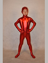 Festival/Holiday Costumes Red Solid Zentai Kid Rubber Shine