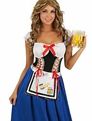 Adult Oktoberfest Costume Female Beer Festival Uniforms Long Beer Girl Dress Women French Maid Costumes for  Halloween