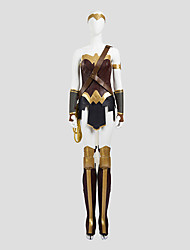 Cosplay Costumes Super Heroes Movie Cosplay Golden / Coffee SolidTop / Skirt / Armlet / Gloves / More Accessories / Kneepad / Strap /