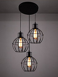 40w Pendant Light ,  Retro / Country Painting Feature for Designers Metal Bedroom / Dining Room / Kitchen / Study Room/Office / Kids Room
