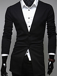 Men's Solid Formal Blazer,Others Long Sleeve Black / Gray