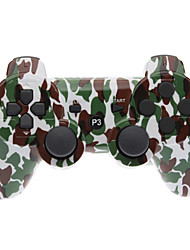 Brown and Green Camouflage Dual-Shock Bluetooth V4.0 Wireless Controller for PS3