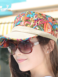Fashion National Lace Wind Linen President Ms. Sun Hat Cap Flat Cap