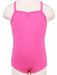 Fuchsia Strapless Solid Colors Ballet Leotards Children's Training Cotton 1 Piece Sleeveless Leotard