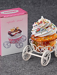 1Pcs Metal Wheel Cupcake Stand Cake Muffin Ice Cream Pastry Baking Decorating Display Wedding Birthday